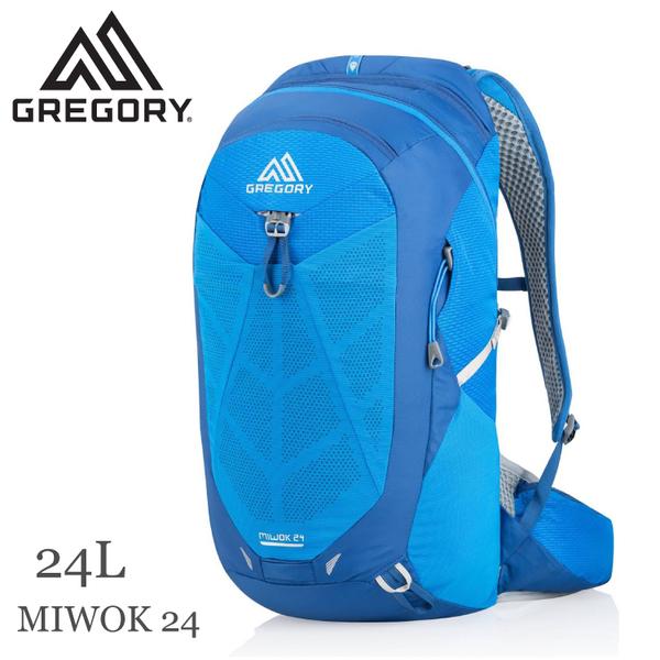 【GREGORY 美國 MIWOK 24 多功能登山背包《射光藍》24L】111481/雙肩背包/後背包/自助旅行/健行/旅遊