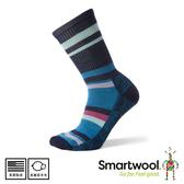 【SmartWool 美國 女 輕量減震徒步印花中長襪《深海軍藍》】SW001395/短襪/女襪/運動襪/健行襪