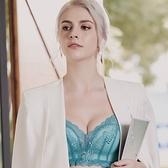 EASY SHOP-花都璀璨 心機無鋼圈B-D罩內衣(天空藍)