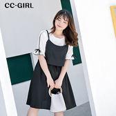 中大尺碼 氣質吊帶背心洋裝~共兩色 - 適XL~4L《 66366K 》CC-GIRL 新品