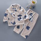 兒童睡衣男孩秋冬季法蘭絨男童女童長袖珊瑚絨套裝小孩寶寶家居服