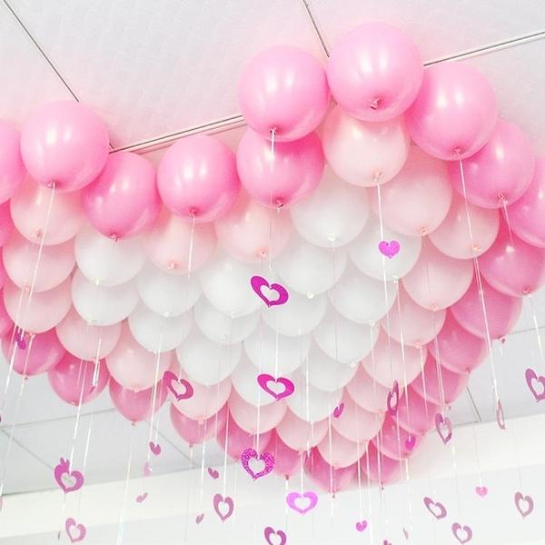 啞光氣球吊墜雨絲氣球套餐兒童成人生日佈置用品爛漫主題裝飾掛飾‧衣雅