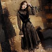 洋裝 洋裝小禮服女新款晚宴會冬裝高貴氣質顯瘦派對年會聚會連身裙 全館 維多