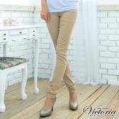 Victoria 天絲棉窄直筒褲(卡其)-VW214172