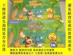 二手書博民逛書店Super罕見Safari (Pupils Book 2A 3A +(Activity Boo 2B)每盒2本 共