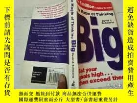 二手書博民逛書店【英文原版】The罕見Magic of Thinking Big