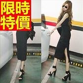 洋裝-長袖流行個性明星款韓版連身裙61a10[巴黎精品]