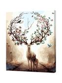 DIY油畫diy數字油彩畫油花掛畫鹿客廳自繪水彩油畫填色畫手繪裝 韓小姐的衣櫥