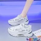 運動鞋 休閒鞋老爹鞋女ins潮2021年夏季新款透氣女鞋子休閒爆款網面小白運動鞋 寶貝 新品