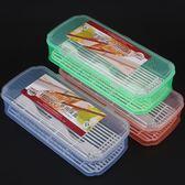 筷子籠 帶蓋瀝水防塵餐具收納盒 塑料家用廚房筷子筒筷架筷籠 KB2621 【歐爸生活館】