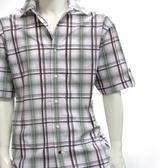 格紋襯衫 摩達客 美國進口真品吹牛老爹人氣品牌【 Sean John 】Outdoor Play綠棕色彩格短袖休閒衫
