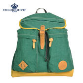 【COLORSMITH】UOC・雙直筒袋束繩後背包-綠色・UOC1360-GN