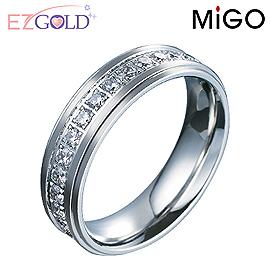 MiGO鋼飾♥燦爛♥鋼飾戒指(女)