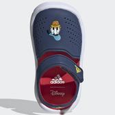 ADIDAS FORTASWIM 2 童鞋 小童 涼鞋 休閒 包趾 魔鬼氈 迪士尼 唐老鴨 藍【運動世界】FW6057