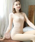 衛生衣 保暖內衣女士薄款棉毛打底衫緊身美體冬少女學生衛生衣女上衣 果寶時尚