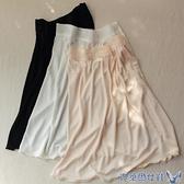 襯裙 桑蠶絲襯裙 睡裙 女士打底裙 彈力針織真絲半身裙 蕾絲花邊薄短裙 快速出貨