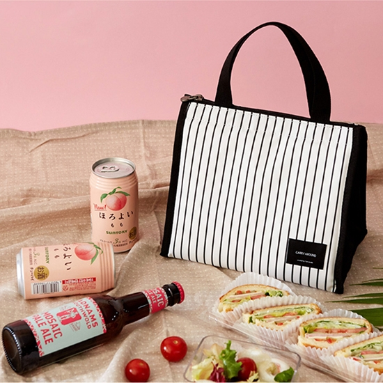 保冷袋 手提袋 飯盒袋 現貨 便當包 收納袋 整理 分類 簡約三角保溫便當袋(短)【J209】 慢思行