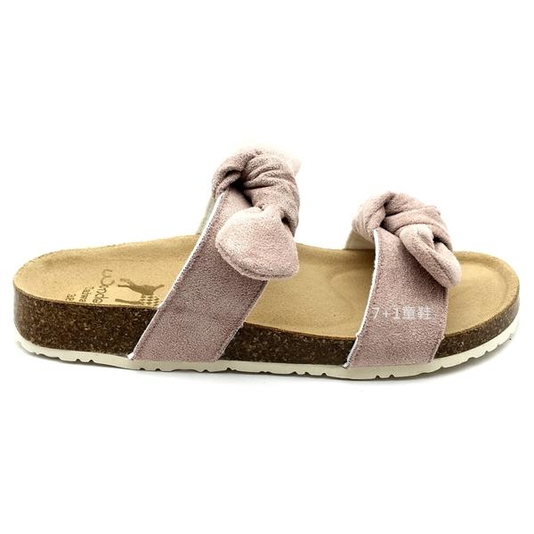 《7+1童鞋》女段 Wonder Go 台灣製 可愛俏皮 雙層扭轉蝴蝶結 拖鞋 E015 粉色