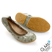 G.Ms. 旅行女孩II ‧ 動物紋真皮可攜式軟Q娃娃鞋(附專屬鞋袋) * 蚚蜴綠