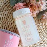 隨手杯韓國創意可愛透明玻璃杯女學生戶外運動便攜水瓶 韓版耐熱水杯子 喵小姐