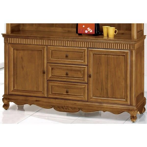 櫥櫃 餐櫃 QW-908-5 新梵谷5尺餐櫃下座(含玻)【大眾家居舘】