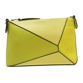 LOEWE 羅威 黃色牛皮肩背包 拼圖包 Puzzle Pochette Shoulder Bag【BRAND OFF】