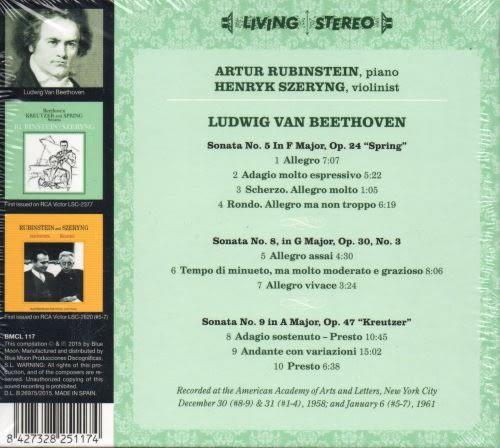 【停看聽音響唱片】【CD】RUBINSTEIN and SZERYNG / BEETHOVEN SONATAS