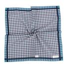 Calvin Klein 交錯格紋紳士純綿帕巾(藍綠色)989091-257
