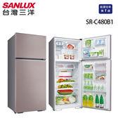 6期0利率 SANLUX台灣三洋 480公升雙門定頻冰箱 SR-C480B1 香檳紫