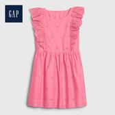 Gap 女幼童 甜美荷葉邊飾洋裝 539903-亮粉色