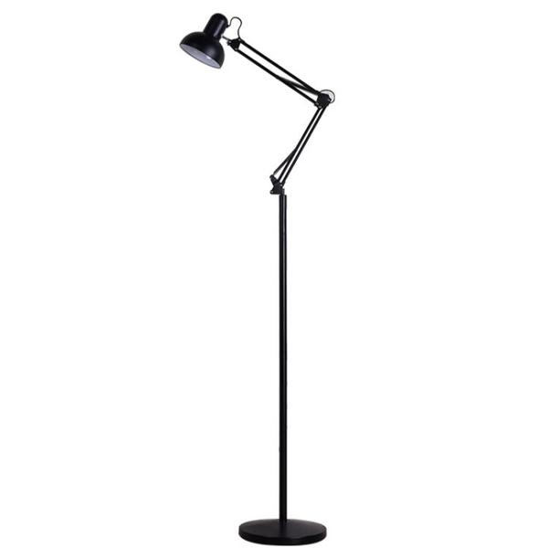 簡約創意美式遙控落地燈客廳臥室床頭書房學習立式台燈麻將釣魚燈 快速出貨