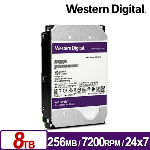WD 紫標 8TB 3.5吋 SATA 監控硬碟 WD82PURZ
