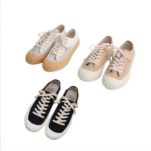 現貨-可愛帆布配色壓紋餅乾鞋-L-Rainbow【A696209】