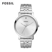 FOSSIL LUXLUTHER 極簡設計鍊帶男錶-銀色 44MM BQ2415