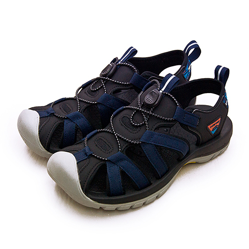 LIKA夢 LOTTO 專業護趾戶外運動涼鞋 冒險者系列 藍黑灰 1926 男