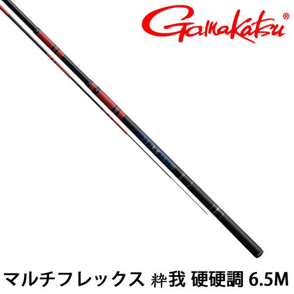 漁拓釣具 GAMAKATSU マルチフレックス 粋我 硬硬調 6.5M (溪流竿)