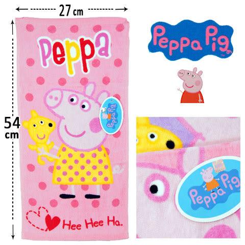 粉紅小豬 純棉童巾 抱娃娃款 佩佩豬 Peppa Pig