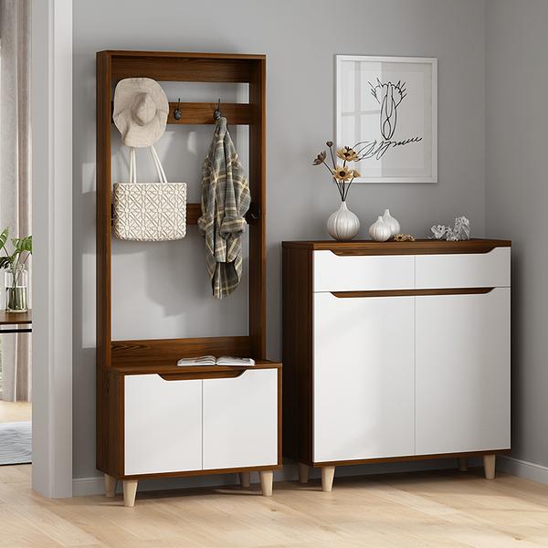 北歐鞋櫃家用門口多功能鞋櫃衣架一體現代簡約進門玄關櫃客廳鞋架WD 至簡元素