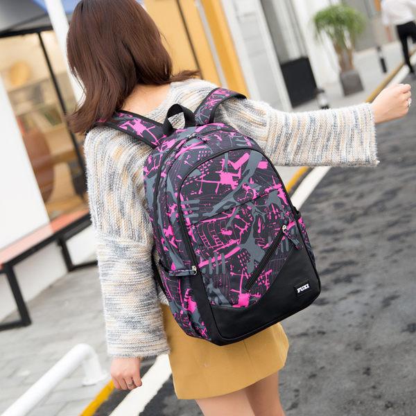 新款初中高中學生書包大學男正韓校園女孩大容量後背包青少年