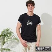 【JEEP】美式迷彩圖騰短袖TEE-黑