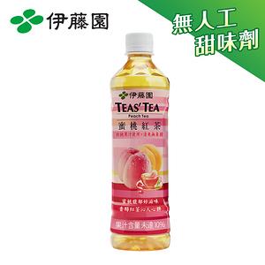 TEAS TEA 蜜桃紅茶PET530mL*24入/箱購