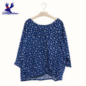 【單一特價】American Bluedeer - 印花抽皺上衣 春夏新款
