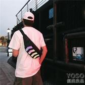 腰包 潮牌胸包男街頭潮流單肩包嘻哈腰包女潮蹦迪學生斜挎背包腰包  『優尚良品』