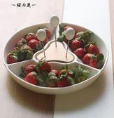日式多格陶瓷水果拼盤創意客廳茶幾零食小吃瓜子點心盤干果水果盤【櫻花本鋪】