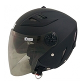 L號 GP-5 232 素色3/4罩式安全帽-消光黑【亞克】
