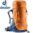 Deuter 3613018_黃/暗藍 30+4L輕量拔熱休閒登山背包Fox 健行旅遊包/雙肩後背包/自助旅行包