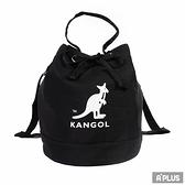 KANGOL 包 兩用尼龍水桶手提包 側背包 黑 袋鼠包 - 6025301820