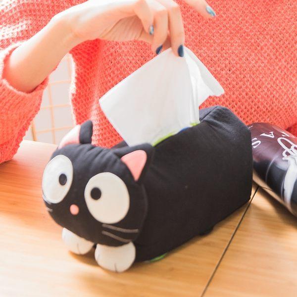 面紙套/Kiro貓‧日系貓咪拼布包 黑貓面紙套衛生紙盒/家居小物/立體造型/鋪棉【230641】