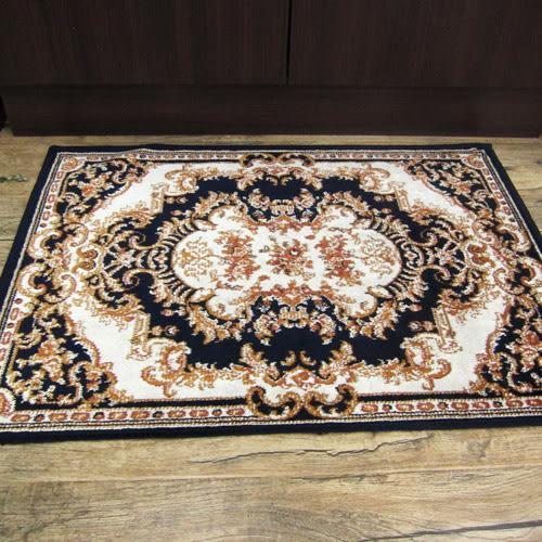 范登伯格 紅寶石輕柔絲質感地毯-踏墊-野燦(藍)-50x70cm