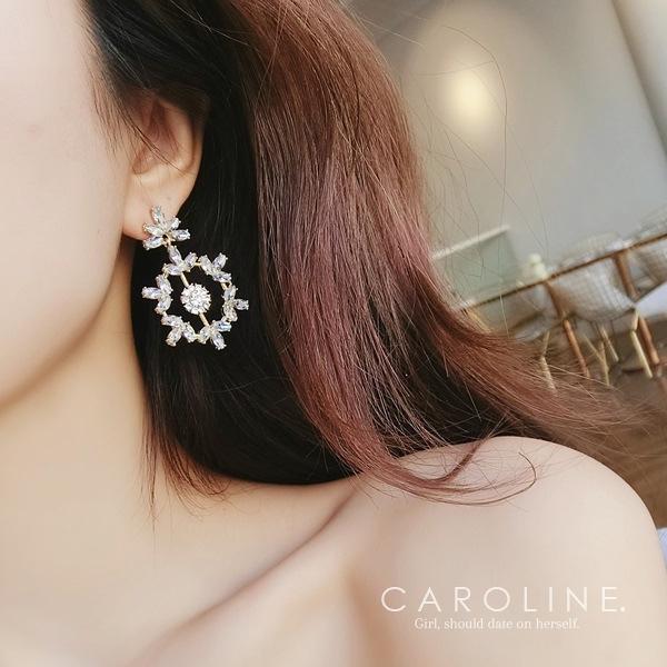 《Caroline》★韓國熱賣造型時尚 奢華、華麗設計感耳環70555